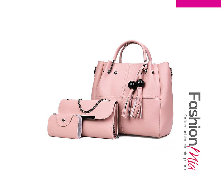 Pink Three Pieces New Style Women Shoulder Bags