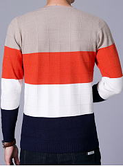 V-Neck Color Block Men Sweater
