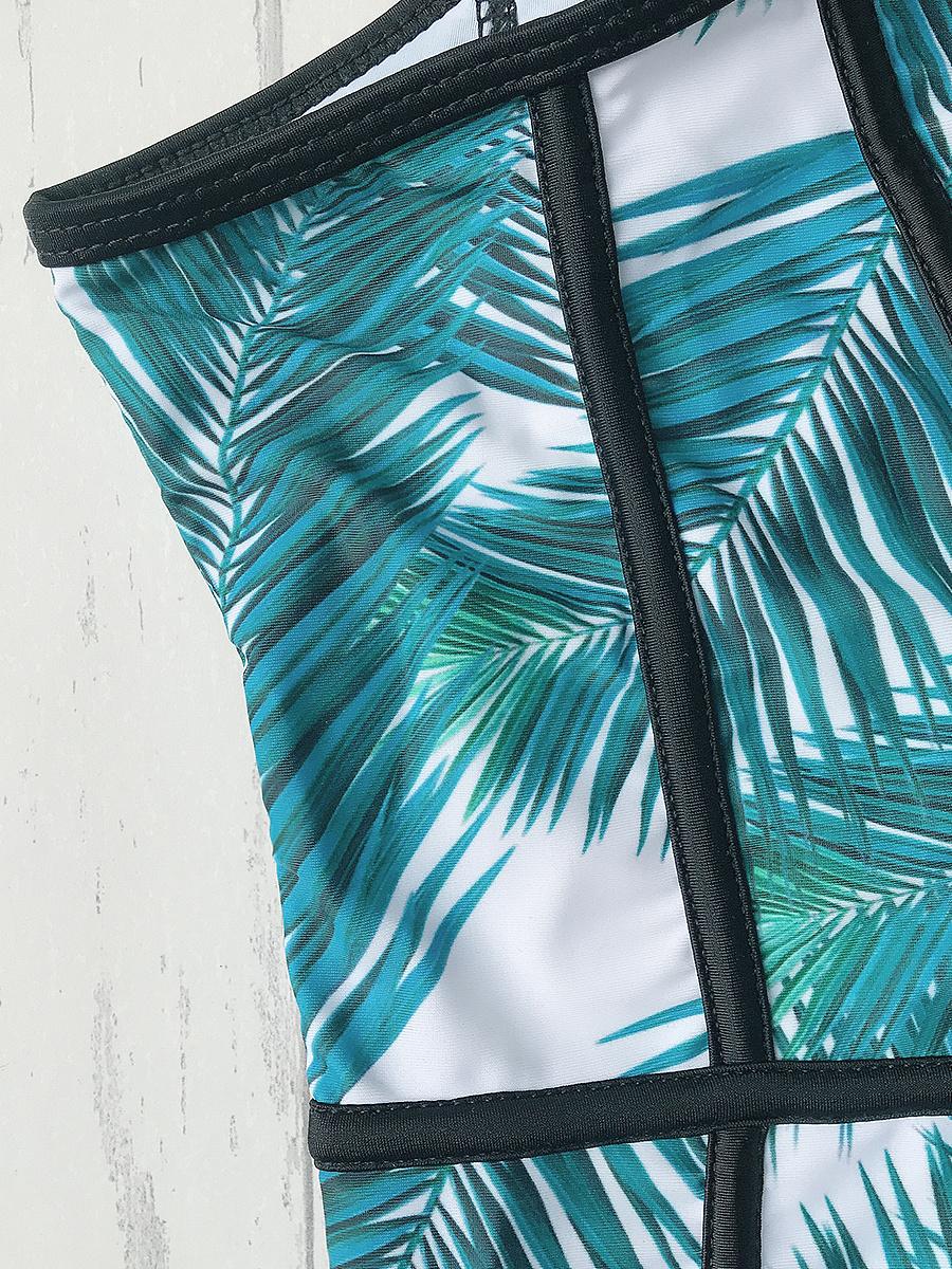 Palm Tree One-Piece Swimwear
