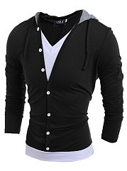 Men-Hooded-Color-Block-Fake-Two-Piece-T-Shirt