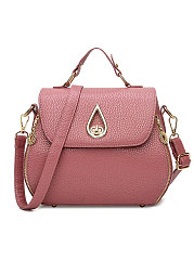 Plain Water Shape Shoulder Bags For Women