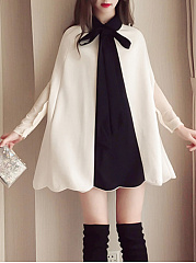 Tie Collar  Colouring Date Shift Dress