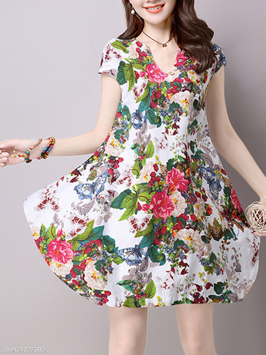 Sweet Heart  Printed Shift Dress
