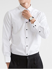 Solid-Patch-Pocket-Men-Shirts-In-White