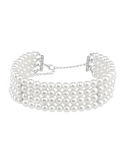 White Pearls Choker Necklace