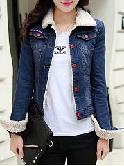 Lapel-Flap-Pocket-Fleece-Lined-Denim-Light-Wash-Jacket