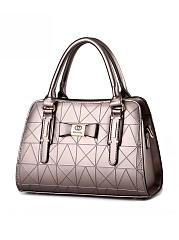 Geometric Embossed Shoulder Bag
