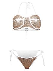 Halter-Contrast-Trim-Glitter-Bikini