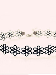 Lace Hollow Out Floral Necklace