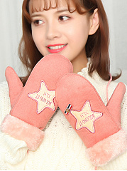 Winter Thick Warm Star Mittens