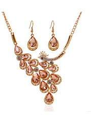Women Luxury Faxual Imitated Crystal Jewelry Sets