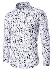 Men-Allover-Whale-Printed-Turn-Down-Collar-Shirts