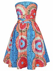 Multi-Way Printed Skater Dress