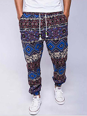 Men's Casual Tribal Printed Jogger Pants