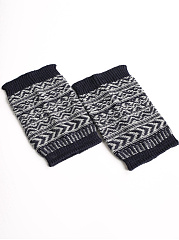 Geometric Boho Knit Leg Warmers