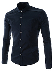 Basic-Office-Plain-Long-Sleeve-Men-Shirts