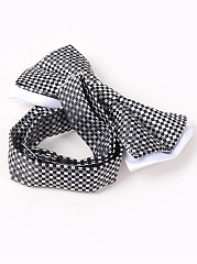 Double-Deck Small Tartans Pattern Bow Tie