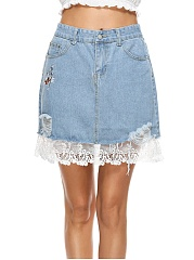 Distressed-Embroidery-Patchwork-Mini-Skirt