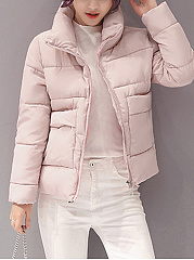 Hooded-Zips-Plain-Long-Sleeve-Coats