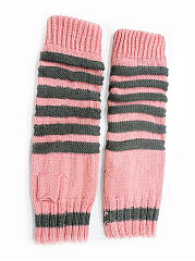 Winter Thick Warm Long Knitted Stripe Gloves