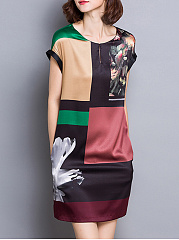 Round-Neck-Pocket-Printed-Shift-Dress