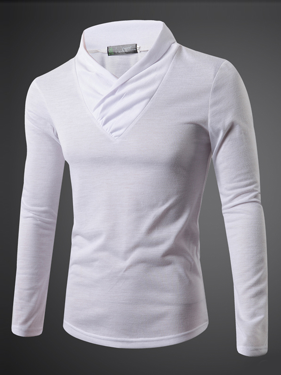 Designed Men V-Neck Plain T-Shirt