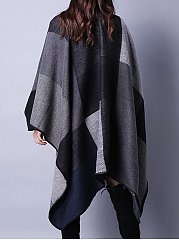 Comme De La Laine Asymmetric Hem Color Block Plaid