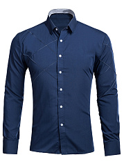 Designed-Plain-Turn-Down-Collar-Men-Shirts