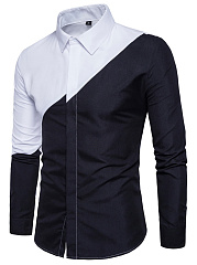 Black-White-Color-Block-Men-Shirts