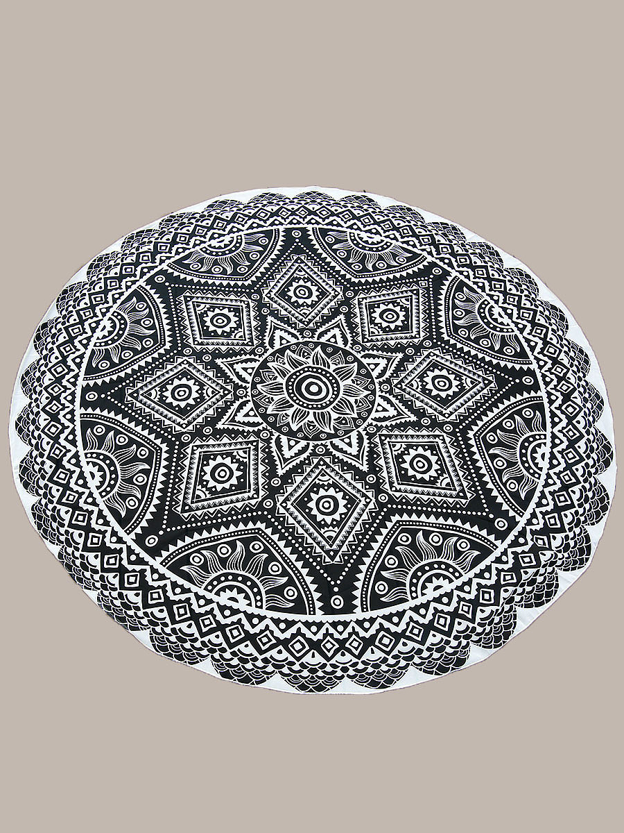 Extraordinary Printed Round Chiffon Beach Shawl