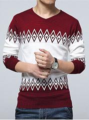 V-Neck-Color-Block-Mene28099S-Sweater