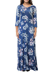 V-Neck-Floral-Printed-Maxi-Dress