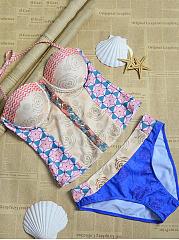 Spaghetti-Strap-Backless-Tribal-Printed-Bikini