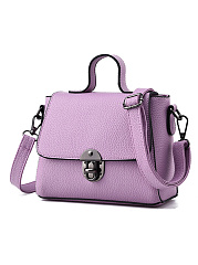 Candy Color Pu Hand Bag  Crossbody Bag