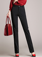 Formal Black Pocket Straight Pants