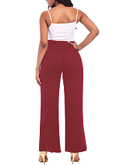 Plain Slit Wide-Leg Yoga Pants
