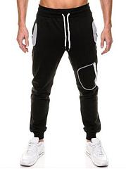 Mens-Elastic-Waist-Pocket-Casual-Jogger-Pants