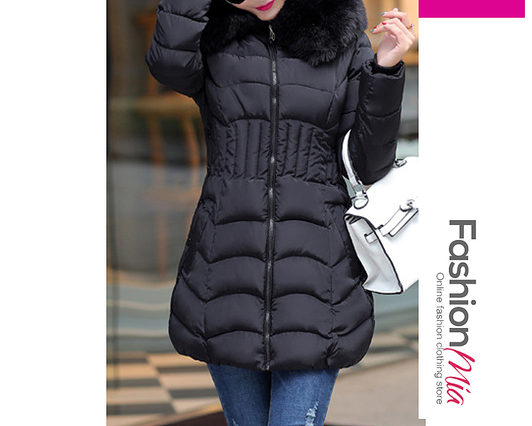 hooded:yes, thickness:thick, outerwear_type:coat, style:casual, material:blend, collar&neckline:hooded, sleeve:long sleeve, embellishment:slit pocket,zips, more_details:quilted, pattern_type:plain, occasion:casual,date, season:winter, package_included:top*1, lengthshouldersleeve lengthbustwaist
