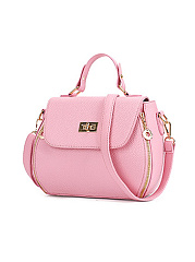 Candy-Color-Pu-Leather-Plain-Crossbody-Bag