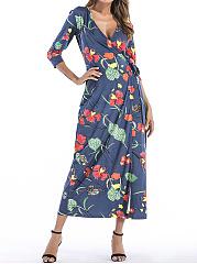 Surplice-Printed-Polyester-Maxi-Dress