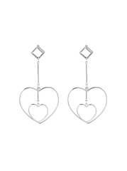 Alloy Hollow Out Heart Shape Earrings