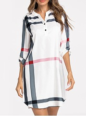 Split-Neck-Printed-Polyester-Shift-Dress