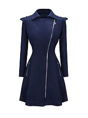 Lapel-Zips-Plain-Swing-Woolen-Coat