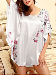 Floral-Batwing-Sleeve-Nightgown