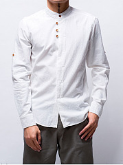 Band-Collar-Plain-Men-Shirt