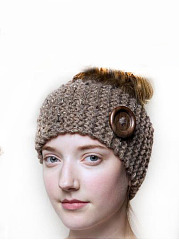 Hot Europe Stylish Button Decoration Knitted Hats