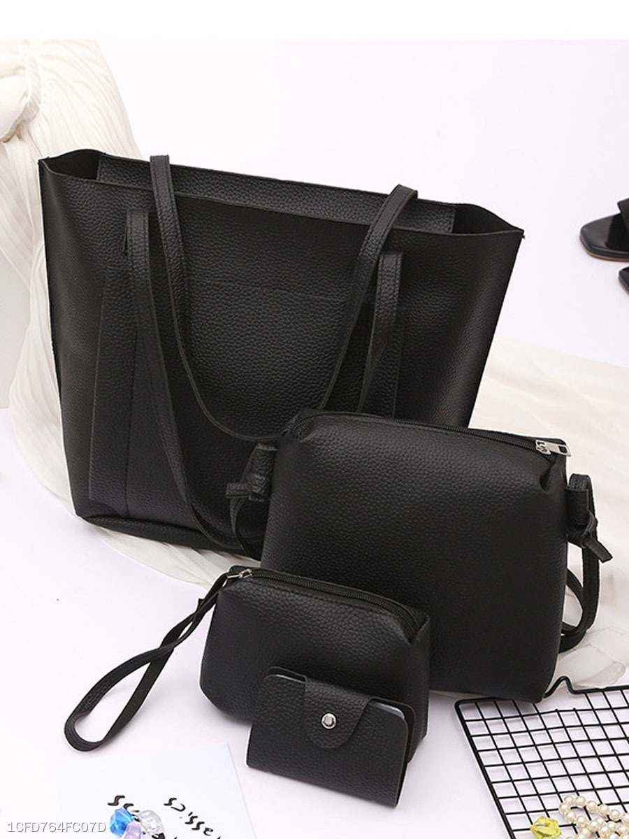 9e9f10cd94fc Four Pieces Plain Pu Shoulder Bags - fashionMia.com