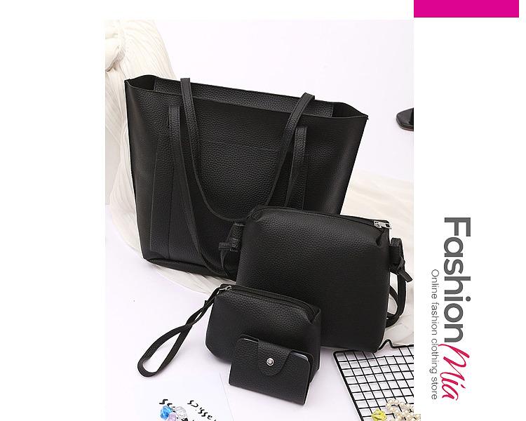 Four Pieces Plain Pu Shoulder Bags