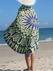 Practical Printed Round Beach Shawl