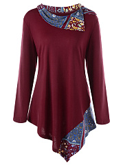 Fold-Over-Collar-Printed-Long-Sleeve-T-Shirt